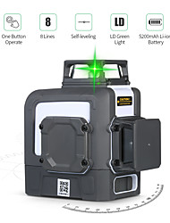 cheap -UNI-T LM572G 8 Lines Laser Level Self-leveling 360 Horizontal Vertical Cross Super Powerful Green Laser Beam Level Meter