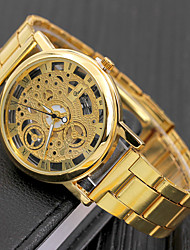 cheap -alloy steel hollow-out quartz watch casual wristwatch ornament gift