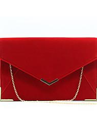 abordables -Femme Velours Pochette Couleur unie Noir / Rouge / Violet / Automne hiver