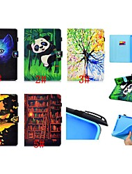 cheap -Case For Apple iPad Air / iPad 4/3/2 / iPad Mini 3/2/1 Card Holder / Shockproof / with Stand Full Body Cases Cat / Butterfly / Panda Hard PU Leather / iPad Pro 10.5 / iPad (2017)