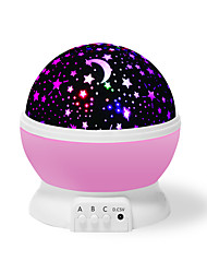 cheap -TopOne LED Night Light Kid Bedroom Lamp 360 Degree Rotating Projection Light Romantic Light Cosmos StarPink