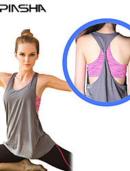 cheap -Women's Open Back Full Figure Bra Yoga Top Stripes Yoga Running Fitness Top Sleeveless Activewear Breathable Moisture Wicking Quick Dry High Elasticity Loose