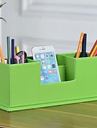 cheap -PU Leather Creative Home Organization, 2pcs Desktop Organizers