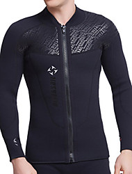 cheap -Dive&Sail Men's Wetsuit Top Wetsuit Jacket 3mm Diving Suit Top Breathable Quick Dry Anatomic Design Long Sleeve Swimming Diving Classic Spring Summer / Stretchy / Athleisure