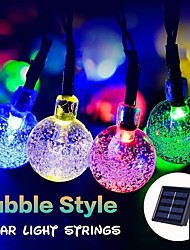 cheap -1 set LED Lantern Solar Light String Outdoor String Lights 20m 200 Light Bubble Ball Outdoor Waterproof Light Garden Decoration Light