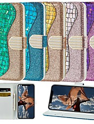 cheap -Case For Huawei Huawei Nova 3i / Huawei P smart / Huawei P Smart Plus Wallet / Card Holder / with Stand Full Body Cases Glitter Shine Hard PU Leather
