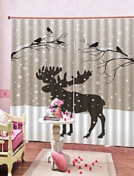 cheap -Modern Simple 3D Printing Multipurpose Curtain Full Sunscreen High-end Durable Thickening Multifunctional Curtain
