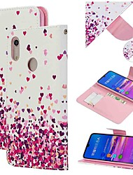cheap -Case For Huawei Honor 10 Lite / Honor V20 / Honor 10i Wallet / Card Holder / Shockproof Full Body Cases Heart PU Leather