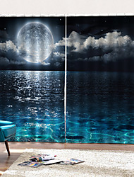 Недорогие -Фабрика прямая цена 3d art print плотные шторы роскошный современный толстый mouldproof занавески для душа