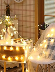 cheap -2m Snow Flakes String Lights 10 LEDs Warm White Christmas Halloween Party Wedding Decorative AA Batteries Powered 1set