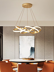 cheap -50 cm Single Design Chandelier Metal Sputnik Brushed Gold LED Modern 220-240V