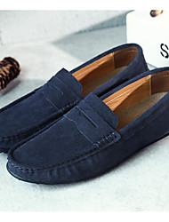 cheap -Men's Loafers & Slip-Ons Comfort Shoes Drive Shoes Casual Daily Outdoor Suede Non-slipping Wear Proof Black Navy Blue Burgundy Spring Summer Fall / EU40