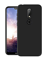 cheap -Case For Nokia Nokia 6.1 Plus / Nokia X6 Dustproof Back Cover Solid Colored Soft TPU
