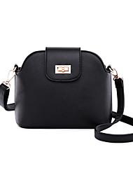 cheap -Women's Zipper PU Crossbody Bag Leather Bag Black / Blushing Pink / Fuchsia
