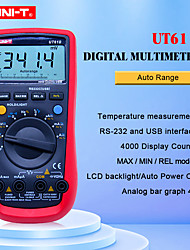 cheap -UT61B UNI-T Digital Multimeter Auto Range RS232 USB PC Software Data Hold Temperature Auto Power Off Best Accuracy 1% Multimetro