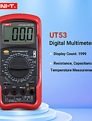 cheap -UNI-T UT53 digital multimeter resistance measurement diode/transistor test digital display AC/DC multimeter Ammeter