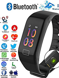 cheap -F1 Smart Bracelet Heart Rate Monitor Blood Pressure Smart Band Health Fitness Tracker Smart Wristband for Android iOS