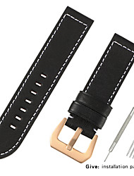 cheap -Genuine Leather / Calf Hair Watch Band Strap for Black / Red / Brown 20cm / 7.9 Inches 2.2cm / 0.9 Inches / 2.4cm / 0.94 Inches / 2.6cm / 1.02 Inches