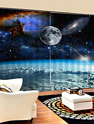 cheap -3D Digital Printing Modern Privacy Two Panels Custom Polyester Curtain For Boys Room / Living Room Decorative Waterproof Dust-proof High-quality  Curtains
