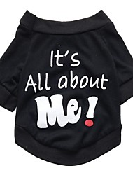 cheap -Dog Shirt / T-Shirt Vest Puppy Clothes Quotes & Sayings Casual / Daily Simple Style Dog Clothes Puppy Clothes Dog Outfits Black Costume for Girl and Boy Dog Cotton S M L XL XXL 3XL