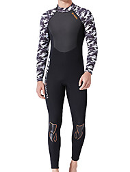 cheap -Dive&Sail Men's Full Wetsuit 1.5mm SCR Neoprene Diving Suit Thermal / Warm Quick Dry High Elasticity Long Sleeve Back Zip - Diving Water Sports Patchwork Autumn / Fall Spring Summer