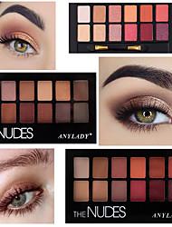 Недорогие -Anyalady 12 цвет теней для век жемчужно-матовый земляной цвет теней для век водонепроницаемый прочный макияж глаз