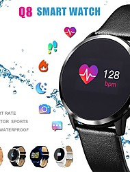 cheap -Q8 Smart Watch BT Fitness Tracker Support Notify/ Heart Rate Monitor Sport Bluetooth Smartwatch Compatible IOS/Android Phones