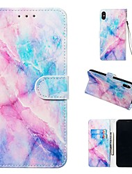 cheap -Case For Apple iPhone XR / iPhone XS Max Magnetic / Flip / with Stand Full Body Cases Marble Hard PU Leather for iPhone 5/SE / 5s/6/6s Plus/7/8 Plus/XS/X