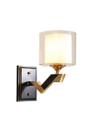 cheap -Antique Glass Wall Lamp Indoor Deco Light Wall Sconces Metal Based Wall Light Fixtures Bedroom Balcony Reading Light Wall Mount Glass Round Shade