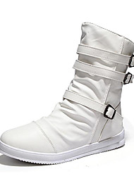 cheap -Men's Fashion Boots PU Fall & Winter Boots Black / White / Office & Career