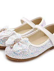 cheap -Girls' Flower Girl Shoes Synthetics Flats Little Kids(4-7ys) / Big Kids(7years +) Bowknot / Sequin Pink / Light Blue / Light Pink Spring