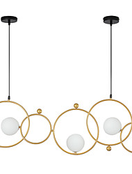 cheap -ZHISHU 3-Light 102 cm WIFI Control Chandelier Metal Glass Sputnik Industrial Painted Finishes Contemporary Chic & Modern 110-120V 220-240V