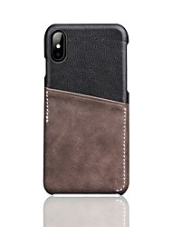 cheap -Case For Apple iPhone XS / iPhone XR / iPhone XS Max Card Holder Back Cover Solid Colored Genuine Leather