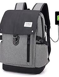 cheap -Large Capacity Oxford Zipper School Bag Solid Color Daily Black / Gray / Dark Grey / Fall & Winter