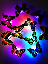 cheap -Fashion 7-Color Changing Cute Butterfly LED Night Light Home Room Desk Wall Décor 1pc