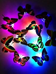 abordables -7 couleurs changeantes papillon mignon led nuit lumière maison chambre bureau décor mural 1pc