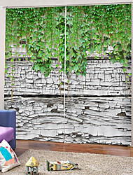 cheap -Fashion Pretty Curtains Strong Fastness Thick Waterproof Polyester Bath Curtain Heat / Sound Insulation Blackout Curtains Fabric for Dedroom / Living Room