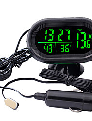 cheap -Digital Car Clock Thermometer  Battery Voltmeter Voltage Luminous Electronic Clock