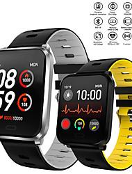 Недорогие -Kw01 умные часы ip68 водонепроницаемый мужчины женщины кислород крови кровяное давление фитнес-трекер сообщение напоминание спорт smartwatch