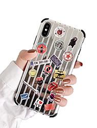 Недорогие -Кейс для Назначение Apple iPhone XS / iPhone XR / iPhone XS Max Защита от пыли / Зеркальная поверхность / С узором Кейс на заднюю панель Мультипликация Мягкий ТПУ / Своими руками