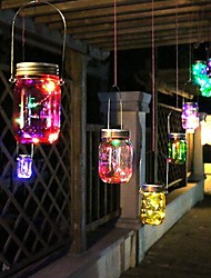 cheap -2m 20 LEDs Fairy Light Solar Mason Jar String Lights  Warm White Waterproof / Solar / Creative Solar Powered 5pcs
