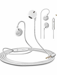 cheap -HONGBIAO SM S10 3.5mm Jack Bass Stereo Earphone with Microphone