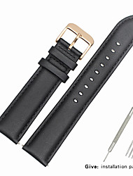 cheap -Genuine Leather / Leather / Calf Hair Watch Band Strap for Black Other / 19cm / 7.48 Inches 1.6cm / 0.6 Inches / 1.8cm / 0.7 Inches / 2cm / 0.8 Inches