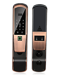 cheap -Factory OEM RX0833 Aluminium alloy Fingerprint Lock / Intelligent Lock / Card Lock Smart Home Security System Fingerprint unlocking / Password unlocking / Mechanical key unlocking Home / Home