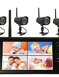 cheap -7-inch wireless DVR 2.4G video surveillance camera Supports four-screen simultaneous display