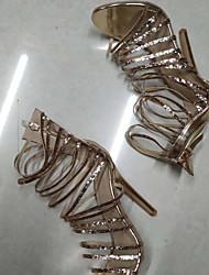 Недорогие -Жен. Обувь на каблуках На шпильке Круглый носок Полиуретан Лето Золотой
