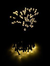 Недорогие -12м Гирлянды 100 светодиоды 1 комплект Разные цвета Работает от солнечной энергии / Декоративная Солнечная энергия