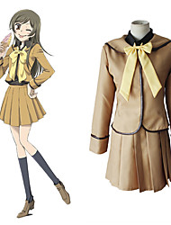 cheap -Inspired by Kamisama Kiss Cookie Anime Anime Cosplay Costumes Japanese Cosplay Suits Solid Color Long Sleeve Cravat Blouse Top For Women's / Dress / Dress
