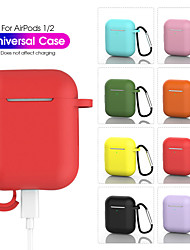cheap -AirPods 1 2 Silicone Protective Case with Hook Solid Colored Earphone  Headphone Cover