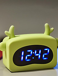 cheap -USB Charging/Battery Cartoon Silicone Alarm Clock Desktop Clock Temperature Calendar Display Decoration Gift